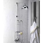 Alpi London virštinkinė termostatinė dušo sistema, spalvų pasirinkimas chromas, bronza, auksas