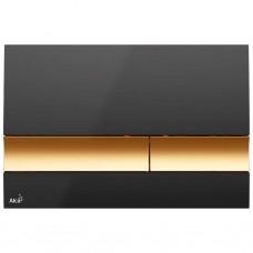 Alcaplast  Nuleidimo mygtukas juoda/auksas M1728-5
