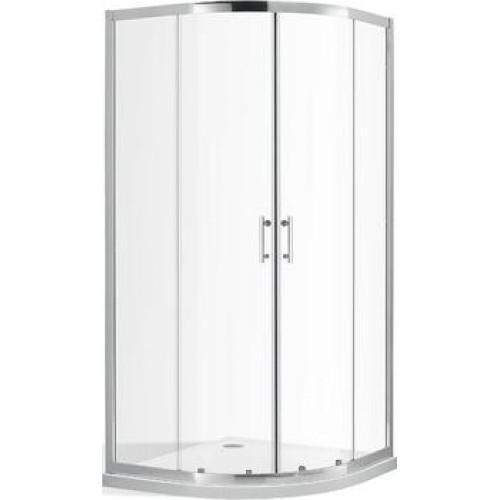 Roltechnik komplektas pusapvalė dušo kabina su slankiojančiomis durimis  OBR2 + DREAM dušo padėklas