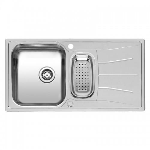 Virtuvinė plautuvė Diplomat 1.5 LUX , 95x50 cm  Nerūdijančio plieno-voniosguru.lt