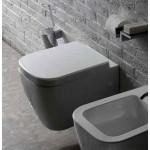 Globo Stone Compact pakabinamas WC, 45 cm baltas