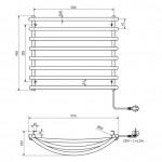 Elektrinis rankšluosčių džiovintuvas Sapho SU110 570x465 mm