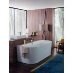 Villeroy&Boch glaudžiama prie sienos vonia Oberon 2.0 Duo 1800x800 mm su panele balta Quaryl®