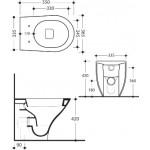 Pristatomas klozetas Kerasan Aquatech su letai užsidarančiu dangčiu-voniosguru.lt