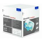 Pakabinamas Villeroy & Boch Avento su rimless technologija ir su lėtaeigiu dangčiu-voniosguru.lt