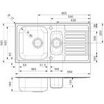 Reginox Centurio virtuvinė plautuvė, 95x50, nerūdijančio plieno-voniosguru.lt
