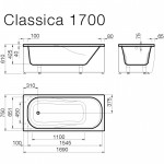 Vispool kmens masės vonia CLASSICA 500x750mm,1700x750mm,1800x750mm-voniosguru.lt