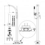 Vonios maišytuvas montuojamas iš grindų BESCO DECCO chromas