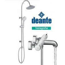 Virštinkinė dušo sistema Cascada su Hansgrohe Ecostat 1001 CL termostatiniu vonios maišytuvu ir pripilymu voniai