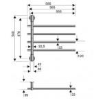 Elektrinis rankšluosčių džiovintuvas P.M.H Fenix  chromas 595x540 mm