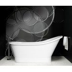 Akmens masės vonia Besco Gloria galimi matmenys 150x68 ir 160x68