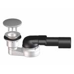 HL sifonas dušo padėklui 40/50 x 80mm su nerūdyjančio plieno dangteliu-voniosguru.lt