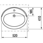 Jika Ibon įleidžiamas praustuvas, baltas 52x41 cm-voniosguru.lt