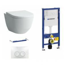 Potinkinio WC rėmo Geberit ir klozeto Laufen Pro su lėtaeigiu dangčiu komplektas