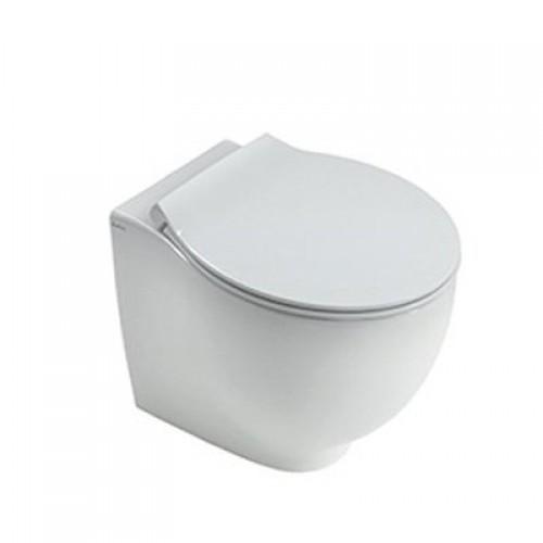 Pristatomas klozetas Hatria Le Fiabe su lėtaeigiu dangčiu ir PureFix technologija-voniosguru.lt