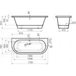 Vispool akmens masės vonia ONDA 1750x760 mm-voniosguru.lt