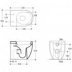 Pristatomas klozetas Kerasan FLO  su lėtai užsidarančiu dangčiu-voniosguru.lt