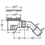 Viega dušo padėklo sifonas su chromuotu ventiliu, d 90mm-voniosguru.lt