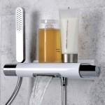 Termostatinis maišytuvas voniai su kriokliu ir dušo galvute Alpi Zago ZA 69100-voniosguru.lt