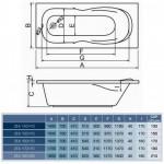 Akrlininė vonia Centrum spz  Zea  150x70 160x70 170x70-voniosguru.lt